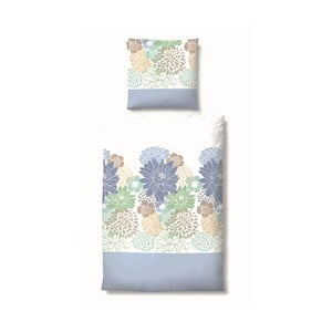 Pościel Maco Jersey Flowers Blue, 155x220 cm