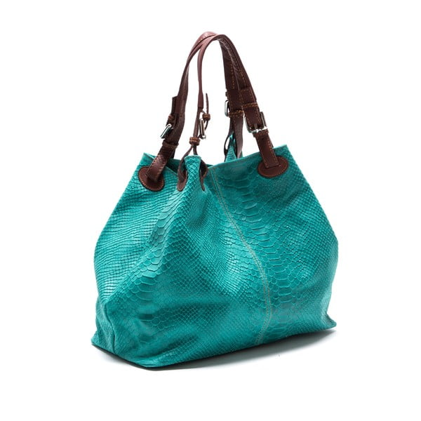 Skórzana torebka Luisa Vanini 841, turkusowa