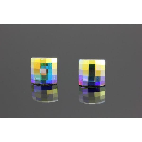 Kolczyki Swarovski Elements Cubes AB