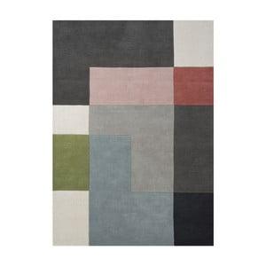 Wełniany dywan Tetris Powder, 140x200 cm