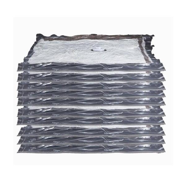 Zestaw 10 torebek próżniowych na ubrania Compactor Aspispace, 90x55 cm/100x80 cm