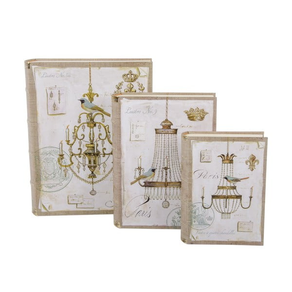 Zestaw 3 pudełek Chandelier Book