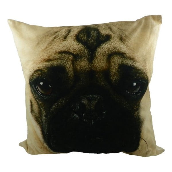 Poduszka Pug Dog, 50x50 cm