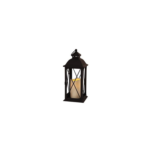 Czarny lampion LED Best Season Candle, 32 cm