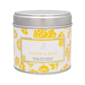 Świeczka zapachowa Spring Couture 40 godzin palenia, aromat bursztynu i róży