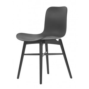Czarne krzesło do jadalni NORR11 Langue Dark