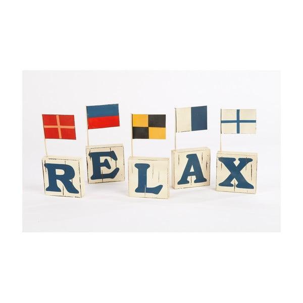 Napis z chorągiewkami Relax