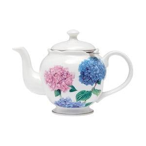 Dzbanek do herbaty z porcelany kostnej z sitkiem Ashdene Pastel Hydrangeas, 750ml