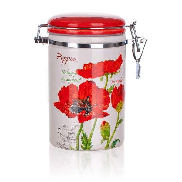 Ceramiczny pojemnik Banquet Red Poppy, 750 ml