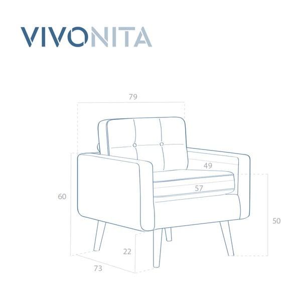 Pastelowo-zielony fotel Vivonita Ina