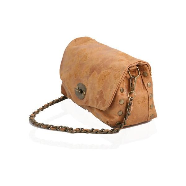 Skórzana torebka Italiana, camel