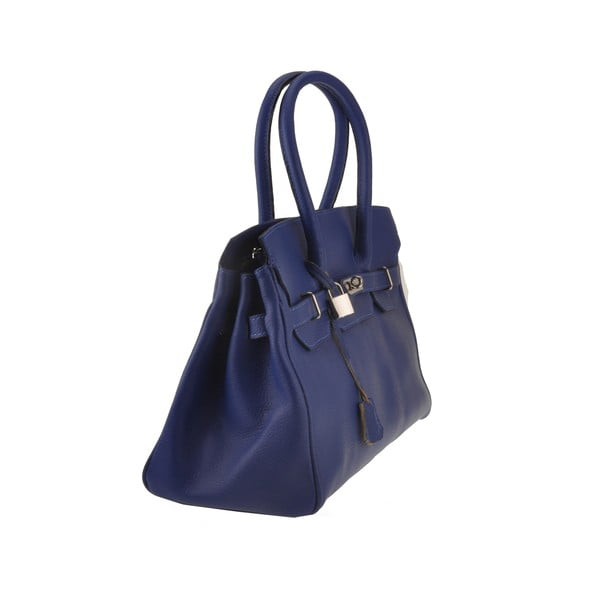 Skórzana torebka Gallina, niebieska