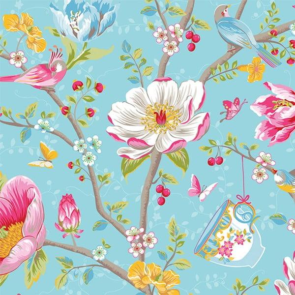 Tapeta Pip Studio Chinese Garden, 0,52x10 m, niebieska