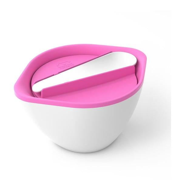 Biało-różowy pojemnik na zupy i sałatki MB LIB Pink/White