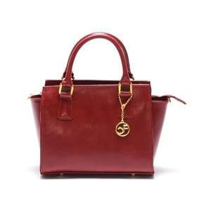 Skórzana torebka Carla Ferreri 382 Rosso