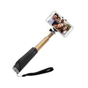 Selfie stick FIXED z przyciskiem bluetooth, złoty