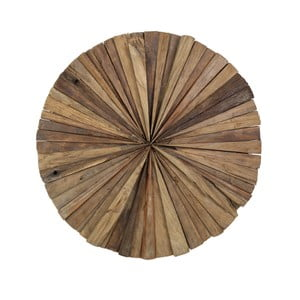 Dekoracja ścienna z drewna tekowego HSM Collection Roude, 80 cm