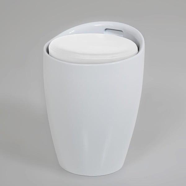 Biały stołek ze schowkiem Actona Minxie