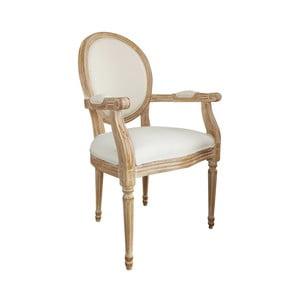 Biały fotel z drewna mangowego Orchidea Milano Wallis