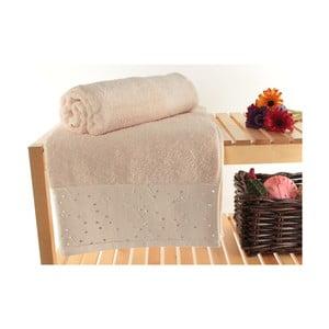 Zestaw 2 ręczników Tomur Powder, 90x150 cm