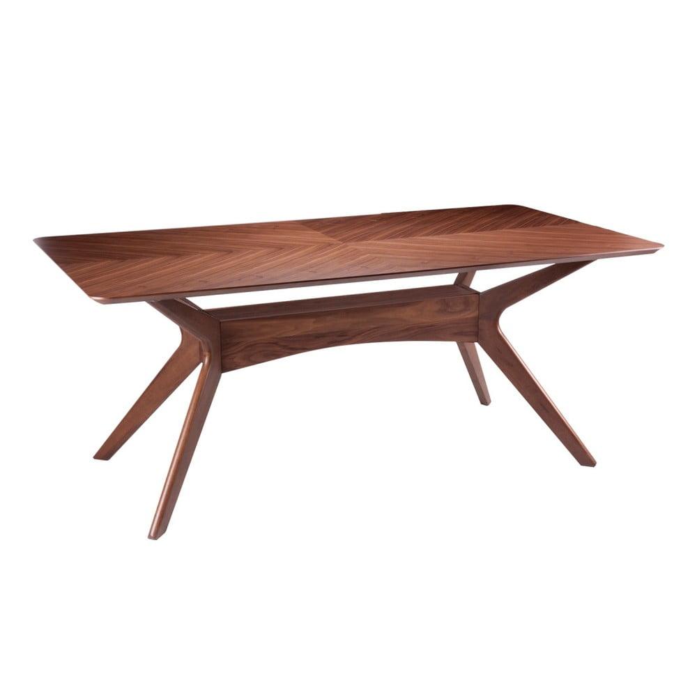Stół w dekorze drewna orzechowego sømcasa Helga, 180x95 cm