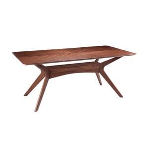 Stół w dekorze drewna orzechowego sømcasa Helga, 180 x 95 cm