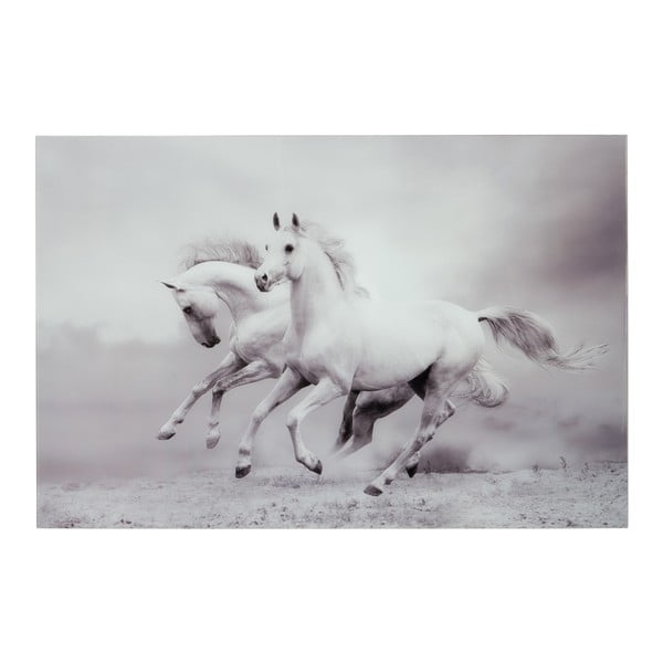 Szklany   obraz Two Horses, 100x150 cm
