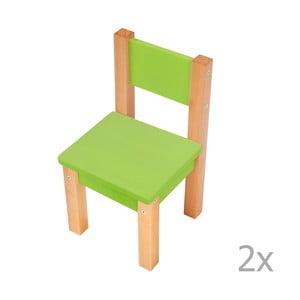 Zielone krzesło dziecięce Mobi furniture Mario