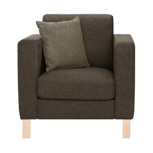 Brązowy fotel z brązowoszarą poduszką Stella Cadente Canoa