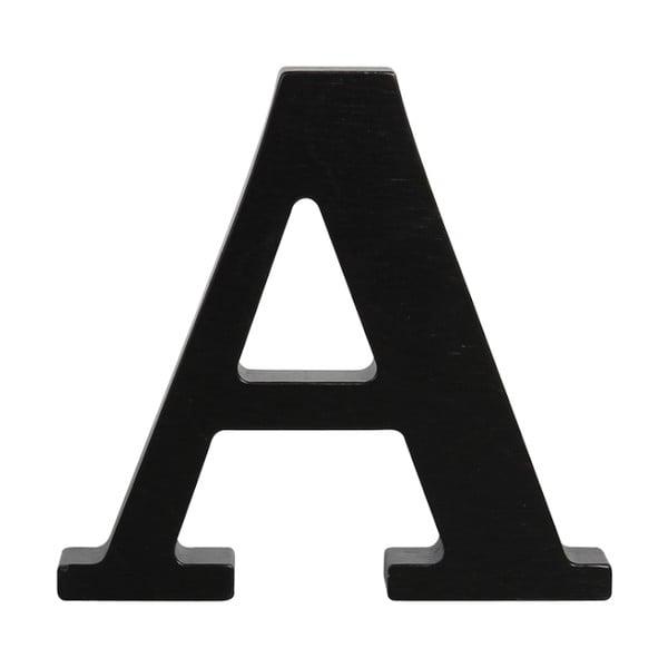 Czarna drewniana litera Typoland A