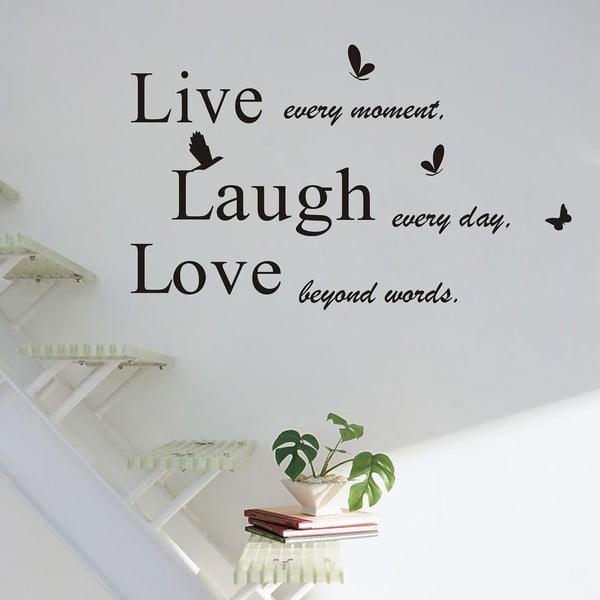 Naklejka dekoracyjna Live Laugh Love, 50x70 cm