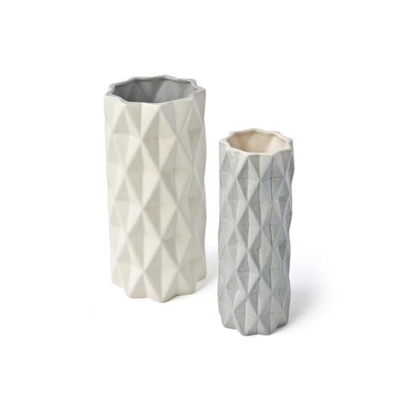 Szaro-biały wazon Hawke&Thorn, wys. 19 cm
