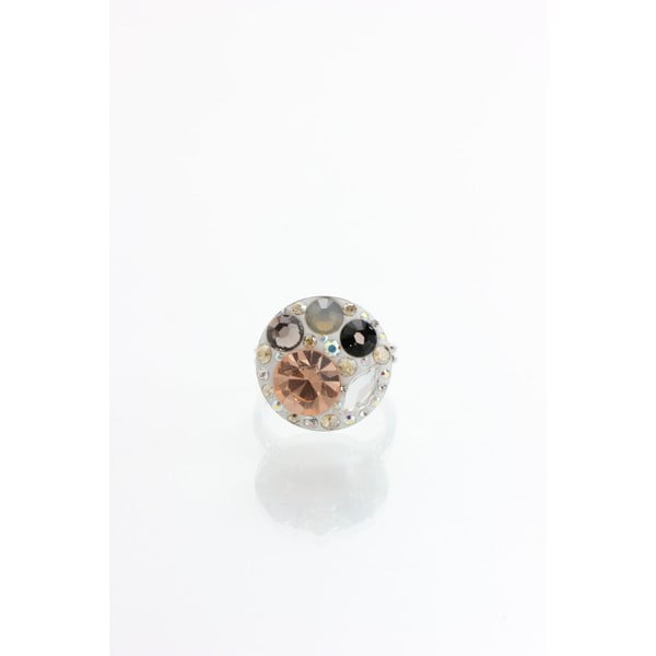 Pierścionek Laura Bruni ze Swarovski Elements Taupe, 18 mm