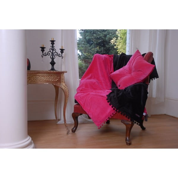 Różowa poduszka Ragged Rose Fiona Velvet