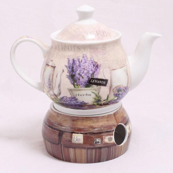 Czajnik z podgrzewaczem Lavender Herbs