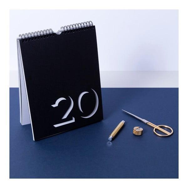 Czarno-biały kalendarz ścienny Flip