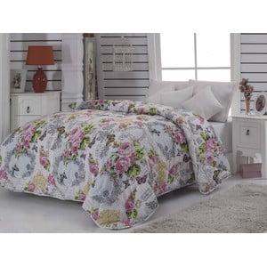 Narzuta pikowana na łóżko dwuosobowe Mimoza Pink, 195x215 cm