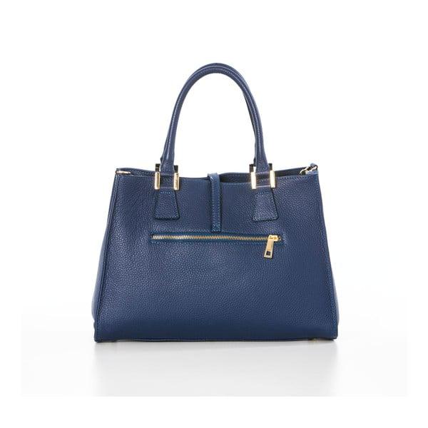 Niebieska torebka skórzana Federica Bassi Dol