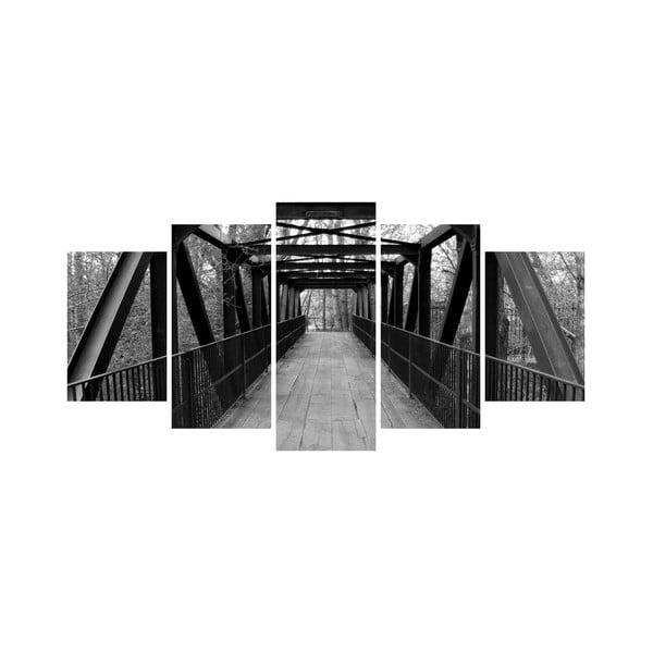 Wieloczęściowy obraz Black&White no. 48, 100x50 cm