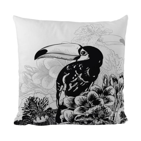 Poduszka Black Shake Tropic Toucan, 40x40 cm
