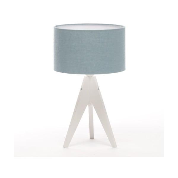 Lampa stołowa Artista White/Light Blue Linnen, 28 cm