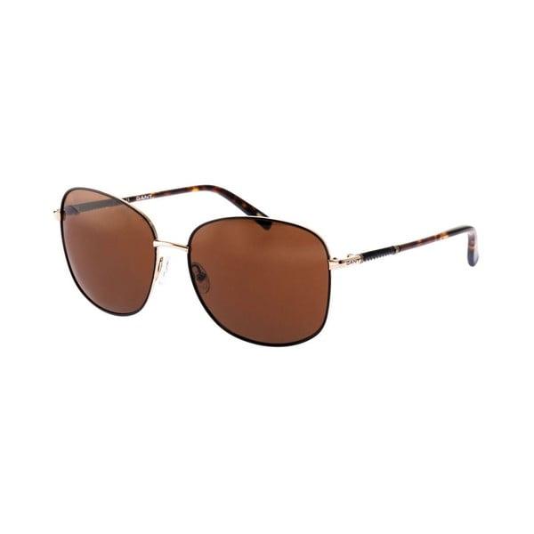 Damskie okulary przeciwsłoneczne GANT Black Gold