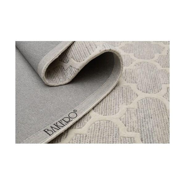 Srebrny dywan tuftowany ręcznie Bakero Diamond, 153x244 cm