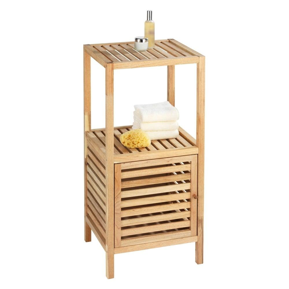 Szafka łazienkowa z drewna orzechowego z drzwiczkami Wenko Norway