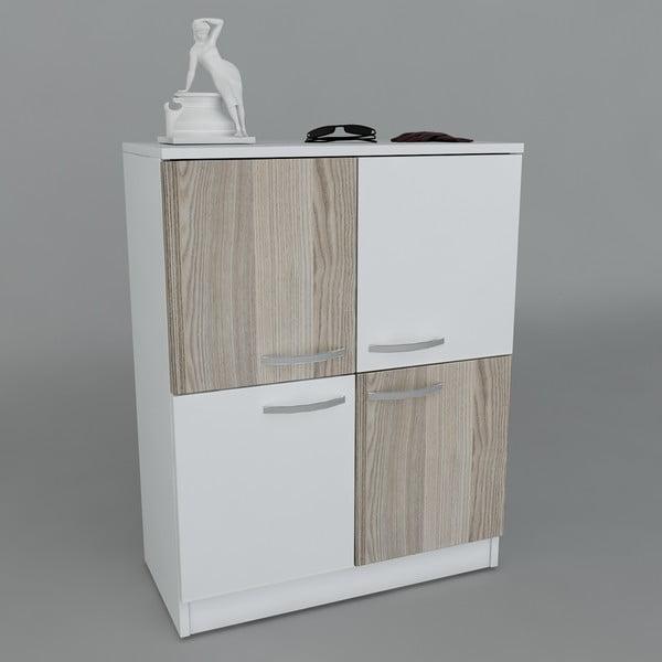 Szafka na buty Sama White/Cordoba, 70x90x35,3 cm