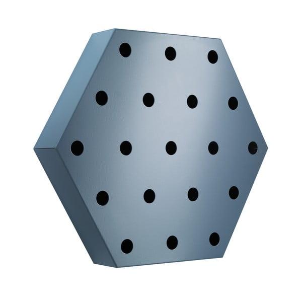 Stojak na wino Hexagon Maxi, niebieski