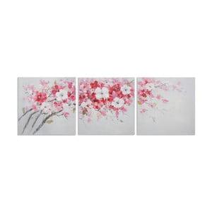 Zestaw 3 ręcznie malowanych obrazów Mauro Ferretti Peach, 60x60cm