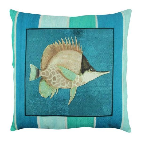 Poduszka z wypełnieniem Blue Fish, 43x43 cm