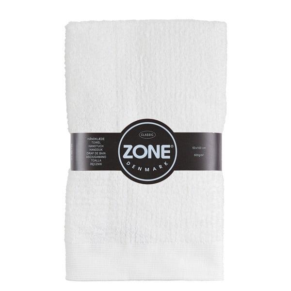 Biały ręcznik Zone Classic, 50x100 cm