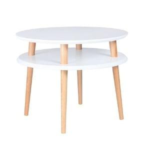 Biały stolik Ragaba UFO, Ø 57 cm